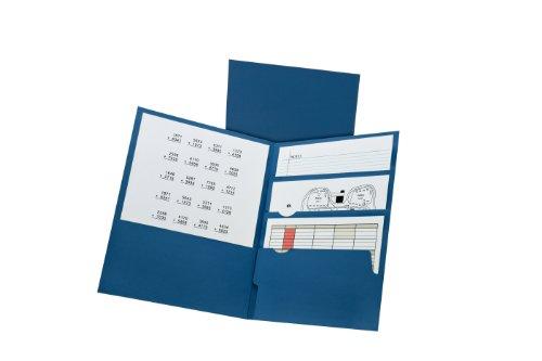 Oxford Divide It Up 4 Pocket Folders Letter Size Navy 57401