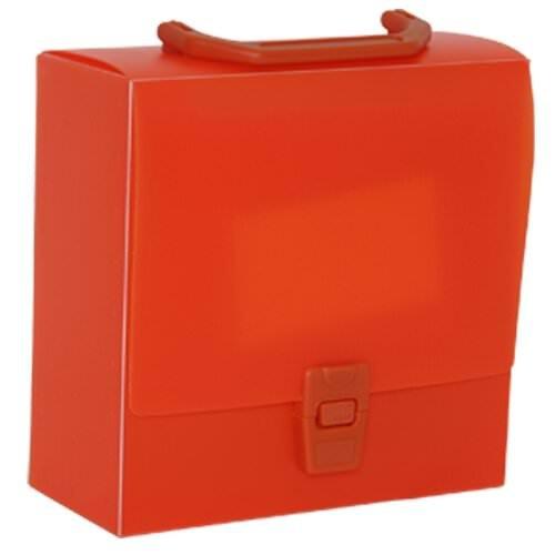 JAM Paper Portfolio Art Case with Handles - 7 x 7 x 3 - Orange - Sold Individually
