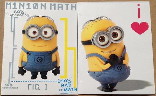 Two Despicable Me 2 Minion Paper Portfolio Folders - Back to School