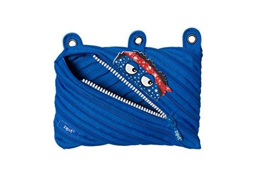 ZIPIT Talking Monstar 3-Ring Pencil Case Blue