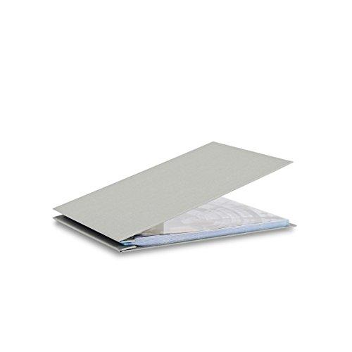 Pina Zangaro Bex 85x11 Landscape Screwpost Binder Gray Includes 20 Pro-Archive Sheet Protectors 34060
