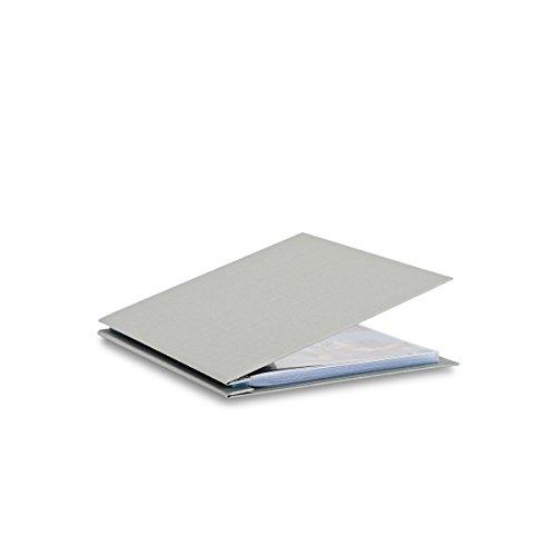 Pina Zangaro Bex 85x11 Portriat Screwpost Binder Gray Includes 20 Pro-Archive Sheet Protectors 34058