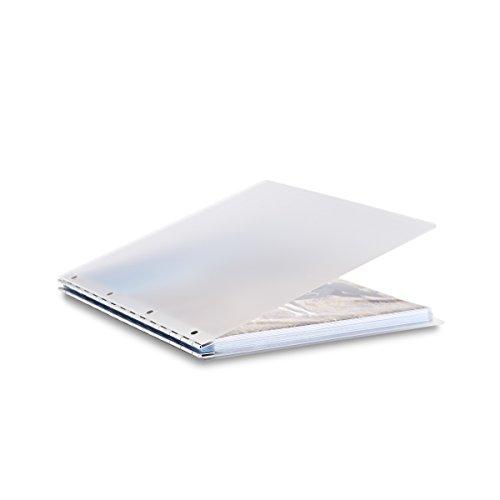 Pina Zangaro Vista 11x14 Portriat Screwpost Binder Mist Includes 20 Pro-Archive Sheet Protectors 34080