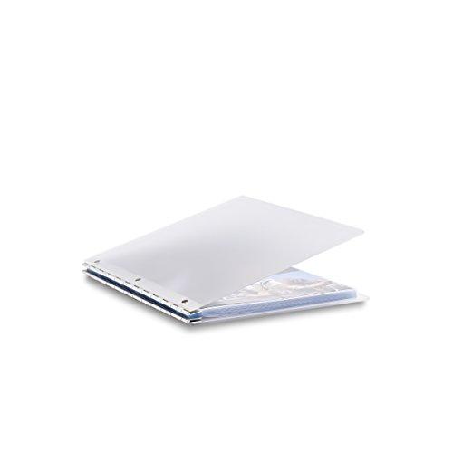 Pina Zangaro Vista 85x11 Portriat Screwpost Binder Mist Includes 20 Pro-Archive Sheet Protectors 34079