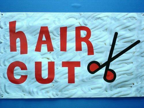 ADV PRO z031 OPEN Scissors Hair Cut Salon NEW Banner Shop Sign