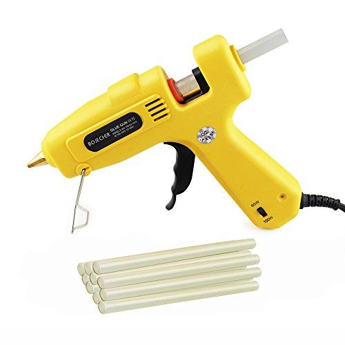 "Hot Glue Gun BOJECHER 60100W Full Size Hot Melt Glue Gun Dual Power with 10pcs Glue Sticks 043 x 78"" High Temperature Melt Adhesive Glue Gun Kit for Home DIY Craft Projects and Industrial Repair"