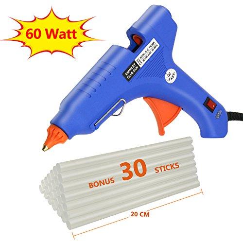 Philonext 60 Watt Hot Glue Gun with 30 Pcs 200mm Melting Glue Gun Sticks Diameter-11mm High Temperature Adhesive Glue Gun for DIY Arts Craft Projects Sealing Quick Repairs Kit in Home Office