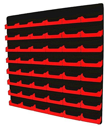 Marketing Holders 48-pocket Wall Mount Business Card Holder Rack - Black Acrylic Red Black 1