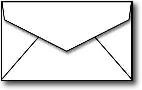 Business card size envelopes 2 18 x 3 58 White - 250 Mini Envelopes
