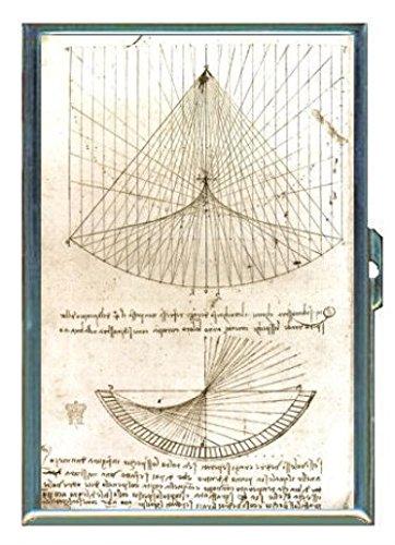 Leonardo da Vinci Curvatures ID Wallet or Cigarette Case USA Made