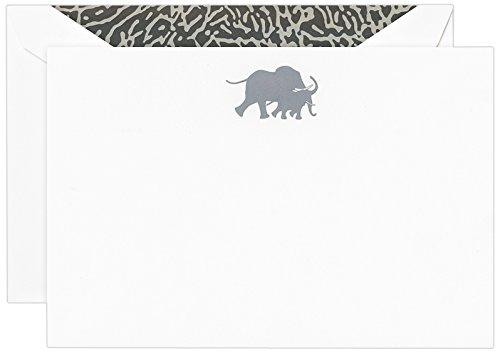 Crane Co Engraved Elephant Correspondence Card CC3520