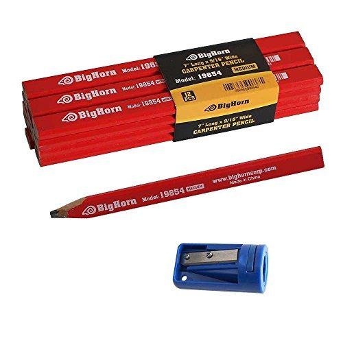 Big Horn 19850 Carpenters Pencil Sharpener 7 long x 916 Wide Pencil Kit