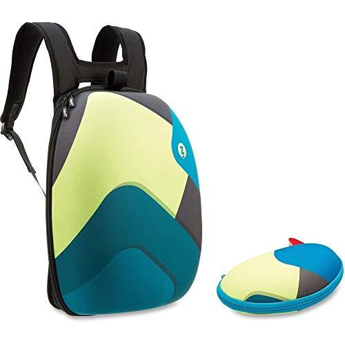 ZIPIT Shell Backpack Glasses Case Set Black Shapes