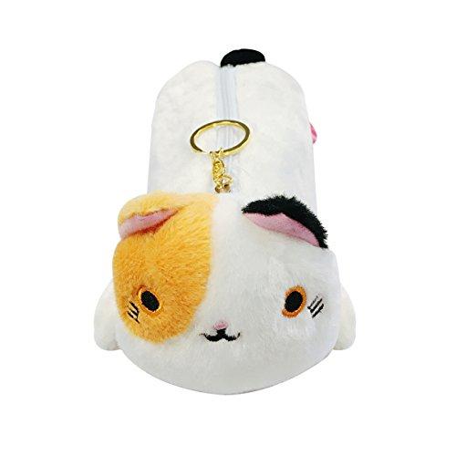 Wrapables Cute Cat Pouch Plush Pencil Case Calico
