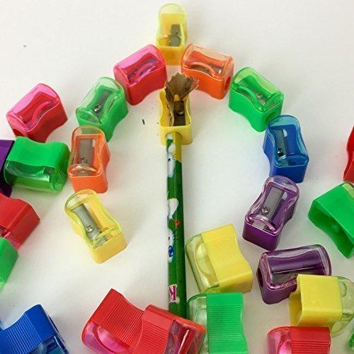 Adorox Assorted 144 Sharpeners Bulk Miniature Plastic Pencil Sharpener Colors Assortment School Classroom
