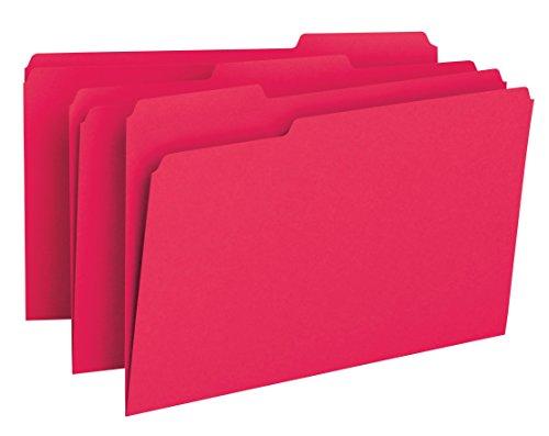 Smead File Folder 13-Cut Tab Legal Size Red 100 per Box 17743