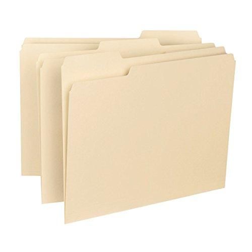 Smead Interior File Folder 13-Cut Tab Letter Size Manila 100 per Box 10230