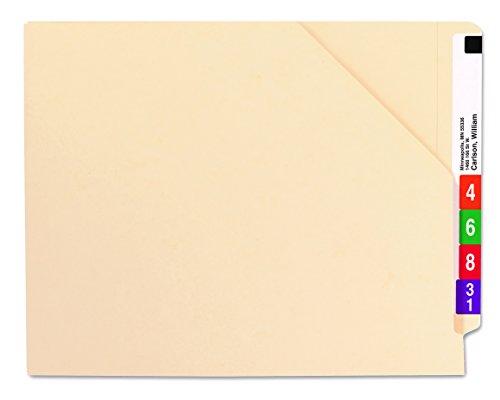 Smead End Tab File Jacket Shelf-Master Reinforced Straight-Cut Tab Letter Size Manila 100 per Box 75700