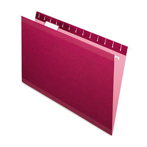 Pendaflex Reinforced Hanging Folders 15 Tab Legal Burgundy 25Box