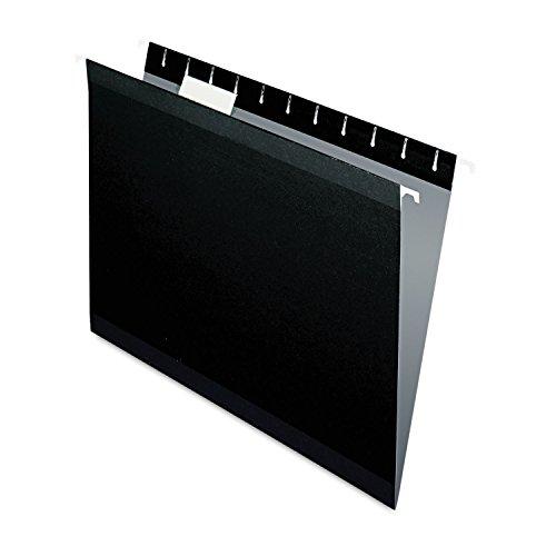 Pendaflex Reinforced Hanging Folders Letter 15 Tab Black ESS415215BLA