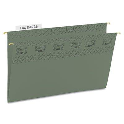 Tuff Hanging Folder with Easy Slide Tab Legal Standard Green 20Pack