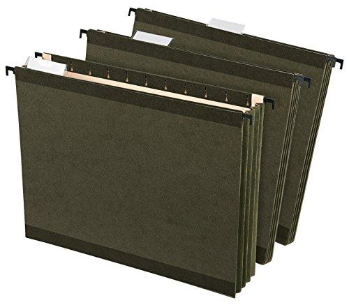 Pendaflex SureHook Acid-Free Hanging File Pocket Letter 3-12 Inch Expansion Green Pack of 4