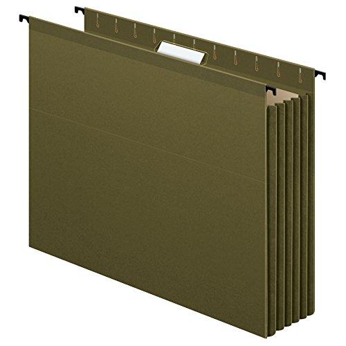 Pendaflex SureHook Reinforced Extra Capacity Hanging Pockets Letter Size Standard Green 4PK 09217