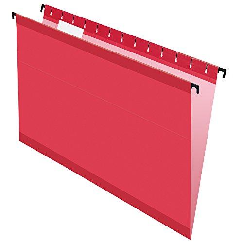 Pendaflex SureHook Reinforced Hanging Folders Legal Size Red 15 Cut 20BX 6153 15 RED