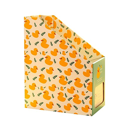LISASTOR Cute Paper MagazineFile Organizers Assorted Colors Yellow Duck
