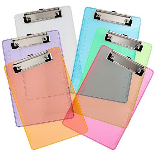 Juvale 12-Pack Plastic Colored Mini Memo Clipboards 6 Colors 6 x 85 Inches