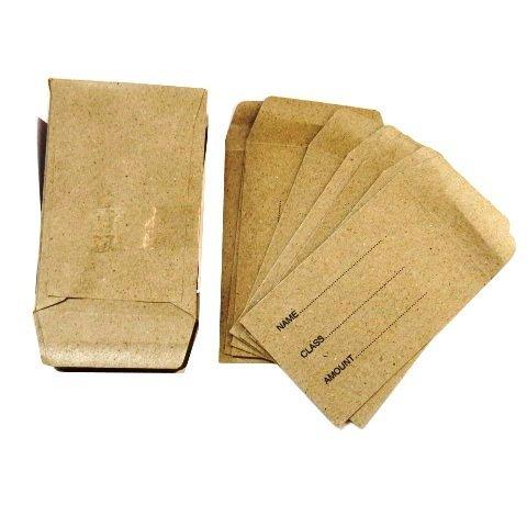 Lunch Money Seed Pocket Envelopes - Pack of 50 Gummed Manilla Envelopes - Size 28 x 39