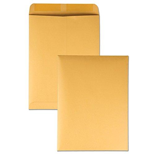 Quality Park 41465 Quality Park Catalog Envelopes HeavyweightGummed 9x12 28lb Kraft 250Box