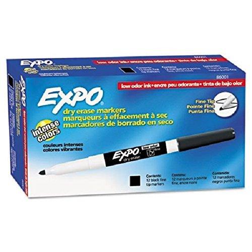 Expo Low Odor Fine Tip Black Dry Erase Marker 2 Packs of 12