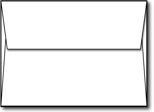 Bright White A6 Envelopes 4 34 x 6 12 - 100 Envelopes - Desktop Publishing Supplies™ Brand Envelopes