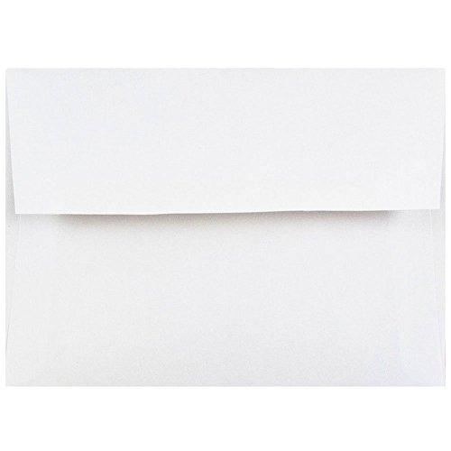 JAM Paper 4Bar A1 Invitation Envelopes - 3 58 x 5 18 - White - 50Pack