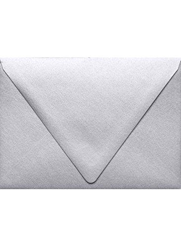 A7 Contour Flap Envelopes 5 14 x 7 14 - Silver Metallic 50 Qty