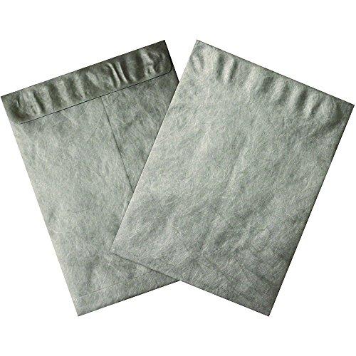 BOX USA TYC912S Tyvek Envelopes 9 x 12 Silver 100 per Case
