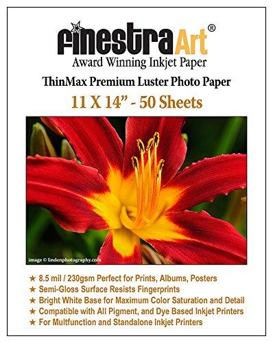 11x14 Premium Luster Inkjet Photo Paper - 50 Sheets 85mil