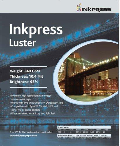 Inkpress Inkjet Photo Luster Paper 11x14 100 Sheets