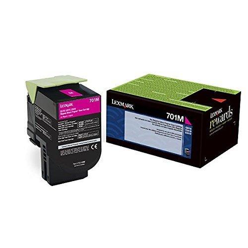 Lexmark 701M 70C10M0 Magenta Toner Cartridge- Return Program Genuine Lexmark