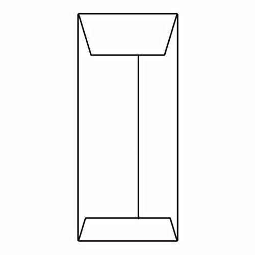 10 Open End Policy Envelopes 4-18 x 9-12 28 White Kraft Center Seam Box of 500