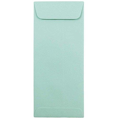 JAM PAPER 10 Policy Business Premium Envelopes - 4 18 x 9 12 - Aqua Blue - 50Pack