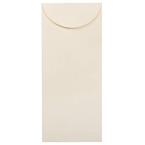 JAM PAPER 12 Policy Business Strathmore Envelopes - 4 34 x 11 - Natural White Wove - 50Pack