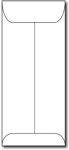White 10 Policy Envelopes - 25 Envelopes