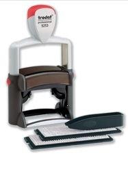 Trodat Professional 5253 D-I-Y Stamp Kit Ink Tweezers and Lettering 3mm 4mm 6 Line Black Ref 58316