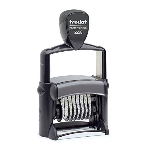 Trodat Professional Heavy-Duty Self-Inking 8-Band Numberer Black by Trodat