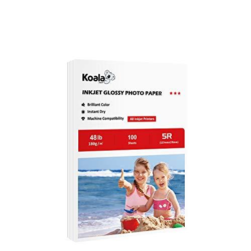 Koala High Glossy Inkjet Photo Paper for inkjet printing 5x7 Inches 100 Sheets180gsm