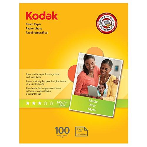Kodak Photo Paper for inkjet printers Matte Finish 7 mil thickness 100 sheets 85 x 11 8318164