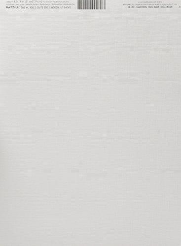 Bazzill Monochromatic 85 x 11 Inches Textured Cardstock Bazzill White 10-1001