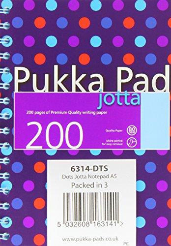 Pukkapad PP16314 A5 Jotta Polka Dot Pad - Assorted